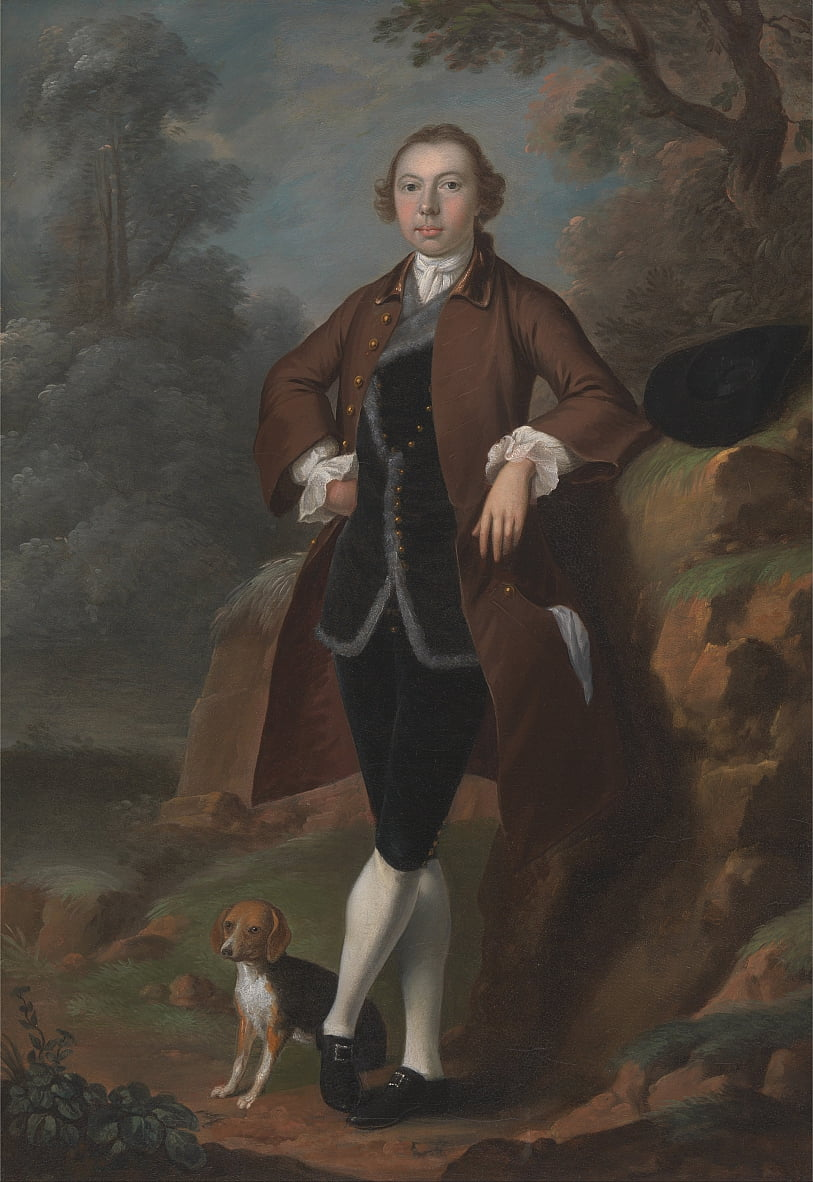 William Farington von Shawe Hall, Lancashire von Arthur Devis