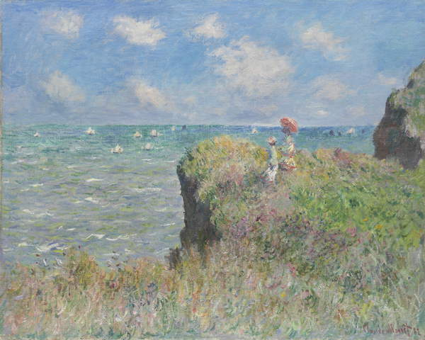 Cliff Walk in Pourville, 1882 von Claude Monet