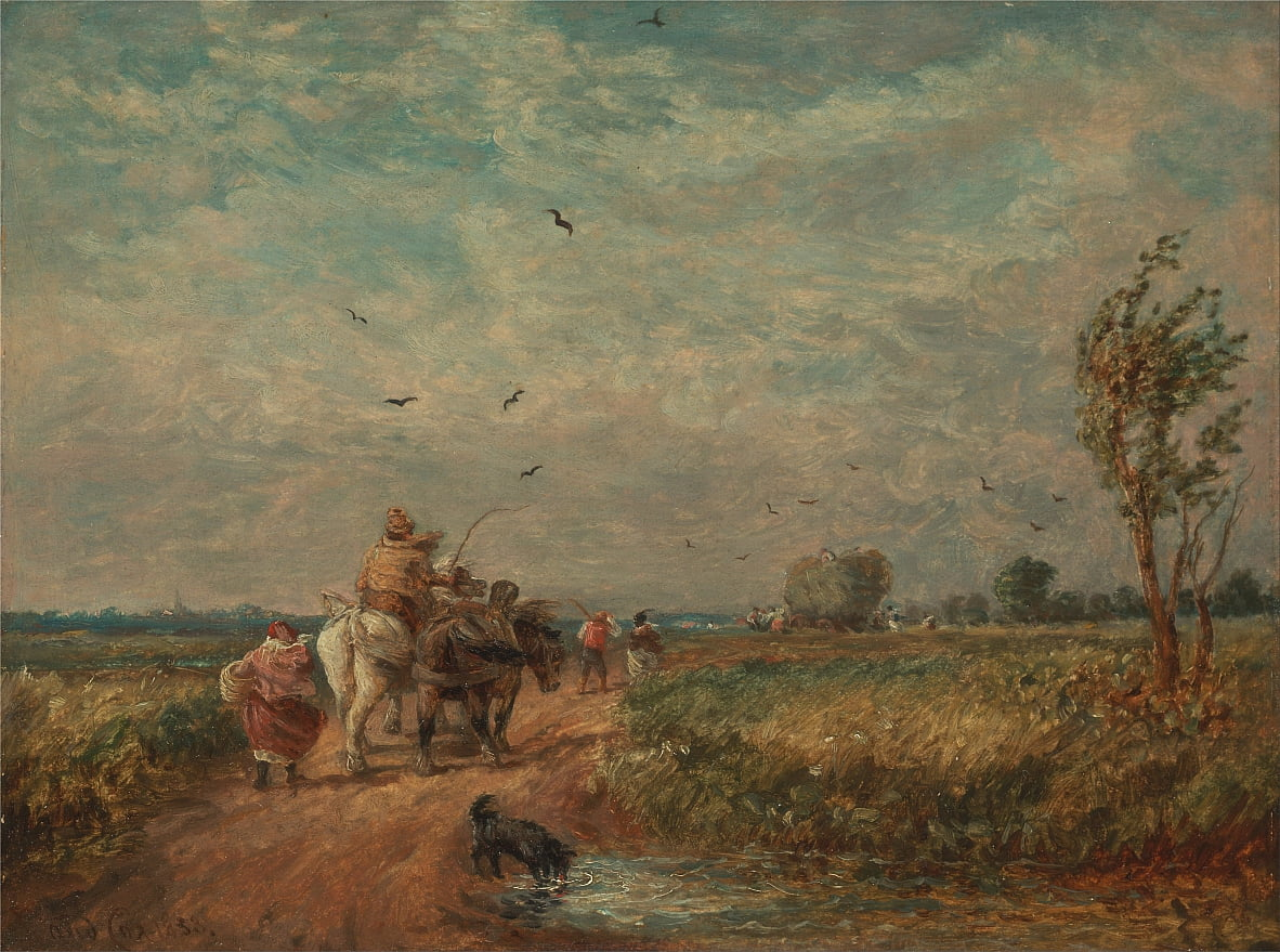 Going to the Hayfield von David Cox