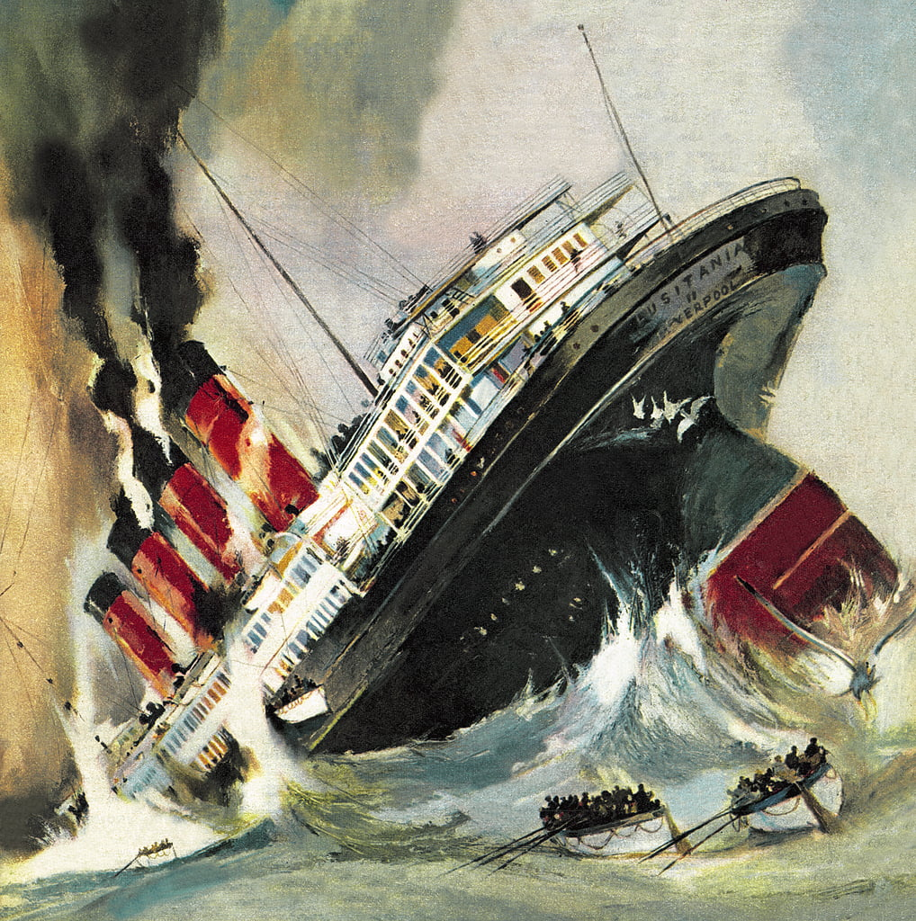 Sinken des Lusitania von English School