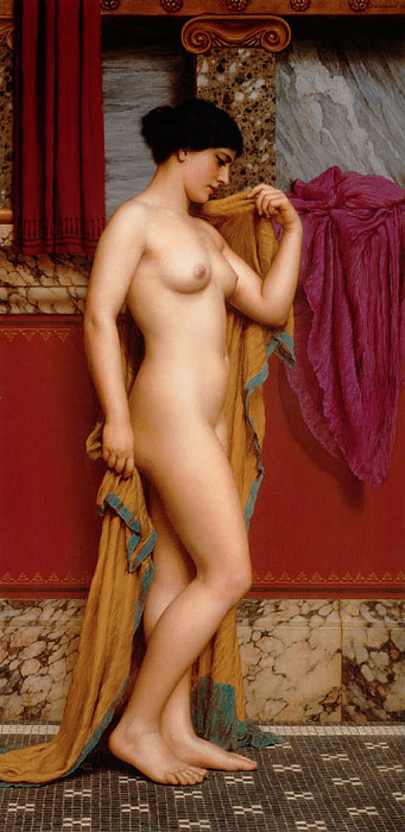 Im Tepidarium von John William Godward