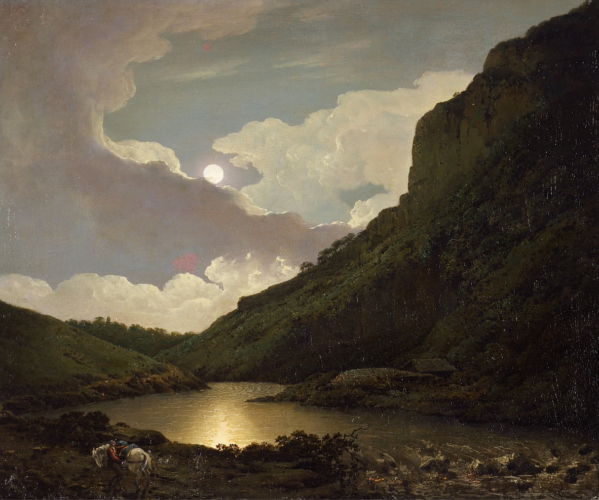 Matlock Tor von Moonlight von Joseph Wright of Derby