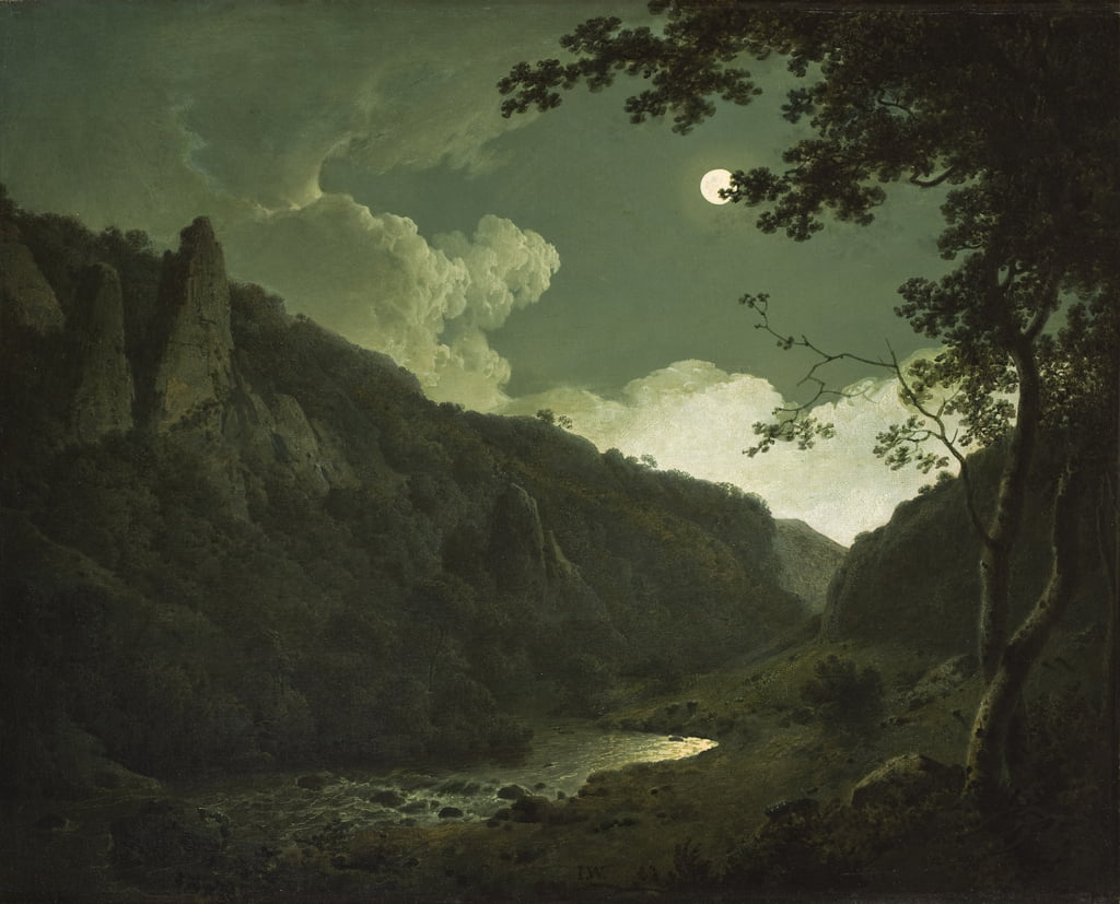 Dovedale von Moonlight, c.1784-85 von Joseph Wright of Derby