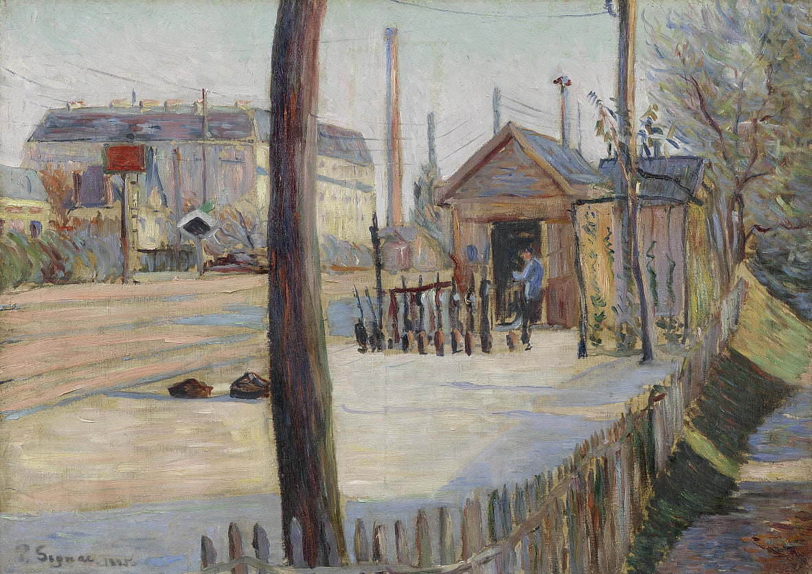 Railway Junction in der Nähe von Bois-Colombes von Paul Signac
