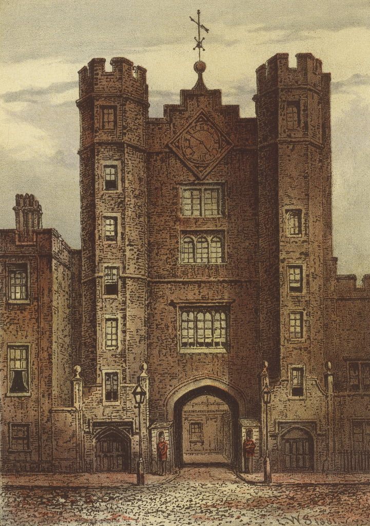Gateway, St. James Palace (Chromolitho) von Waldo Sargeant