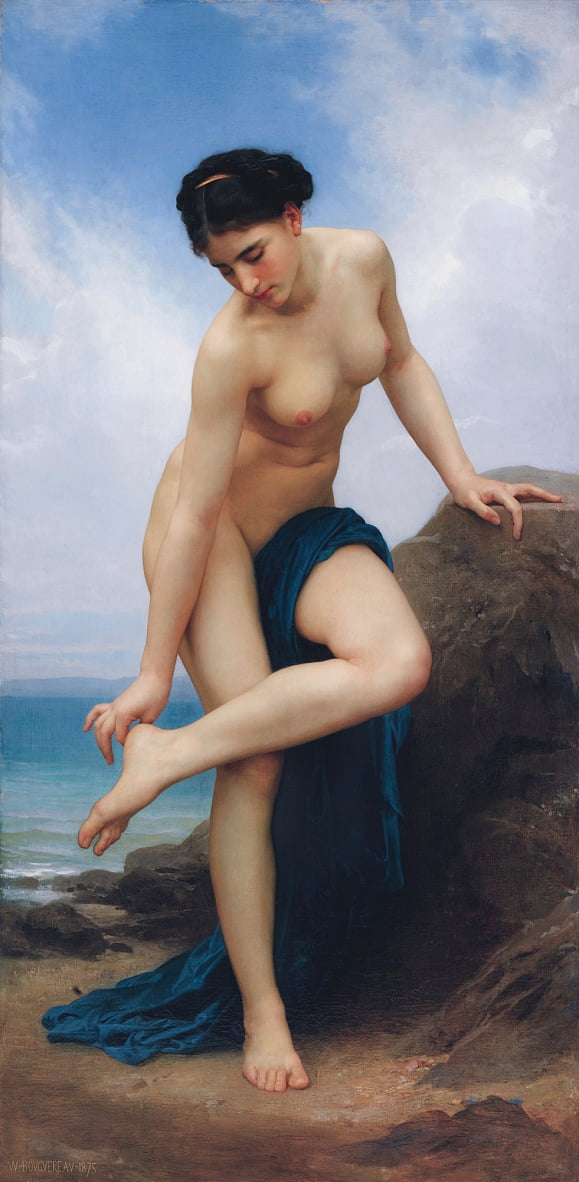 Nach dem Bade von William Adolphe Bouguereau