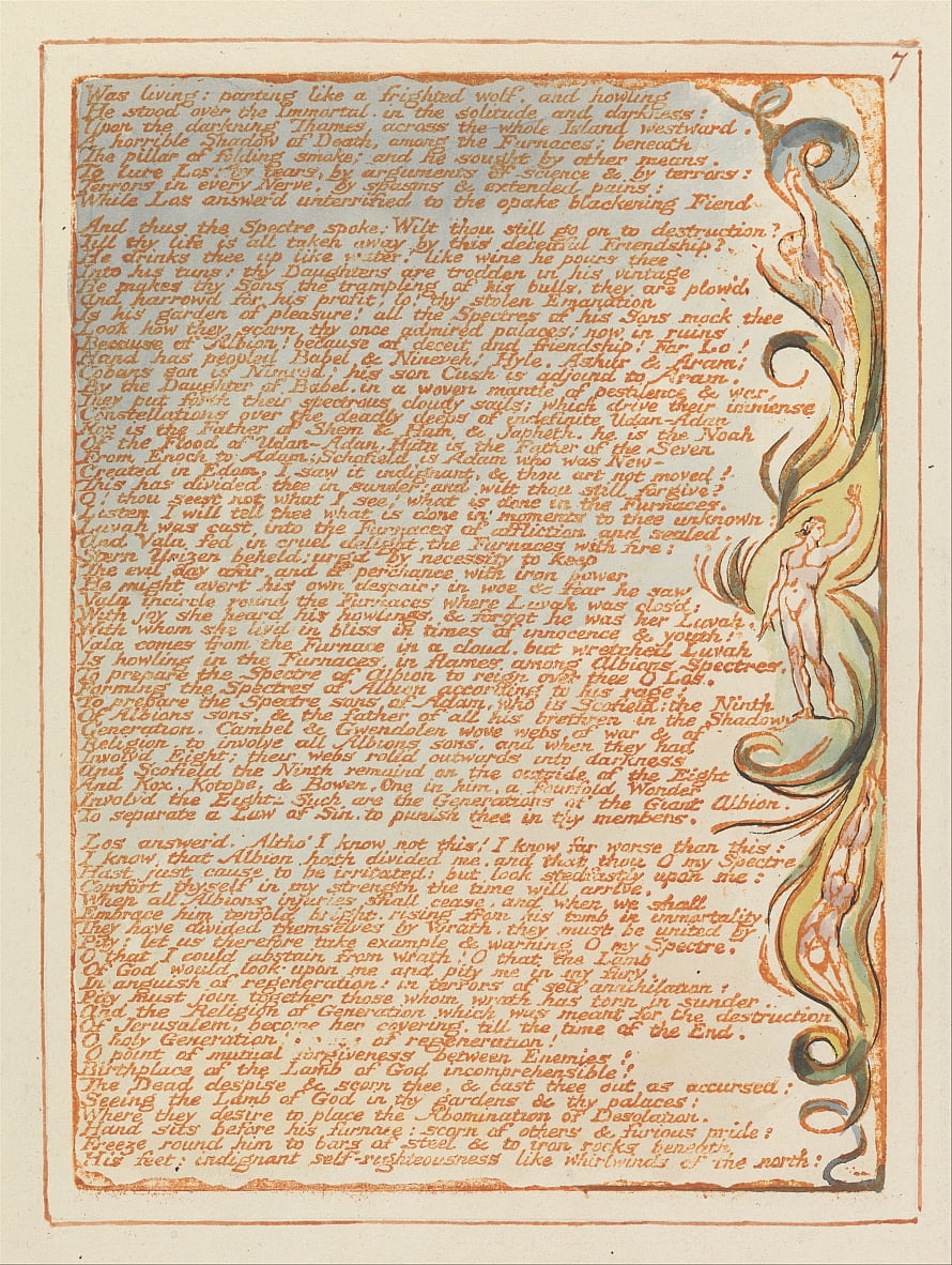 Jerusalem, Tafel 7, war lebendig ... von William Blake