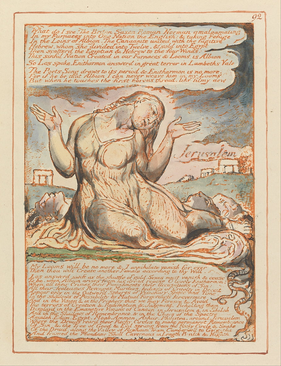 Jerusalem, Tafel 92, was sehe ich! von William Blake