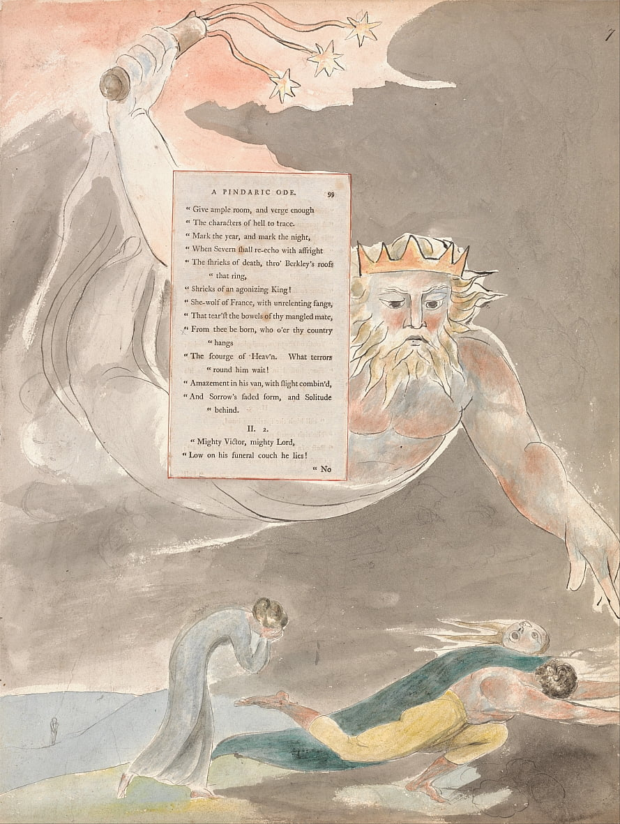 Die Gedichte von Thomas Grau, Design 59, The Bard. von William Blake