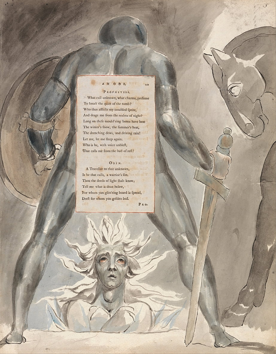 Die Gedichte von Thomas Gray, Design 81, von William Blake